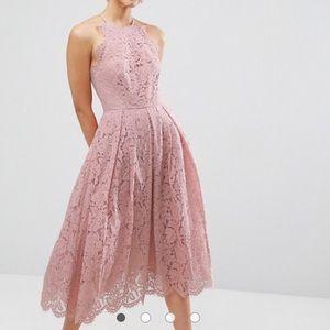 ASOS lace scallop edge midi homecoming promwedding